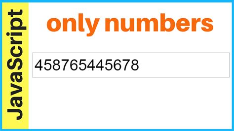 html pattern to accept only numbers javascript input text allow only numbers c java php