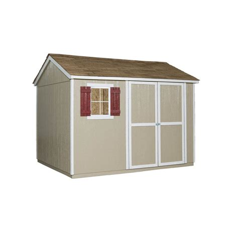 Lowes Storage Sheds Installed shop heartland common 10 ft x 8 ft interior dimensions 9 46 ft x 7 58 ft valencia saltbox