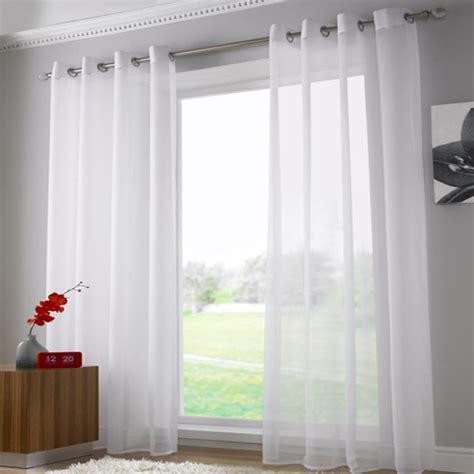 Plain White Curtains White Eyelet Voile Curtain Panel Tony S Textiles Tonys Textiles