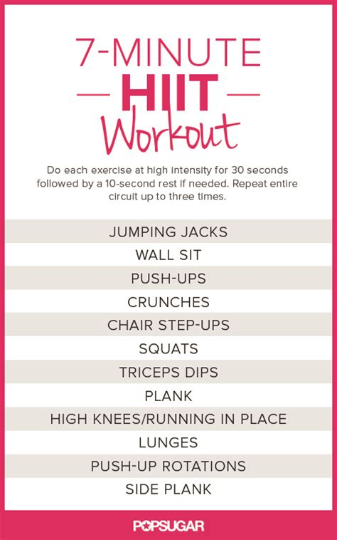 just hiit it printable no equipment at home workouts