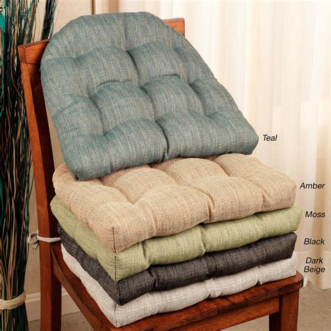 Handsome Reversible Chair Cushion Set