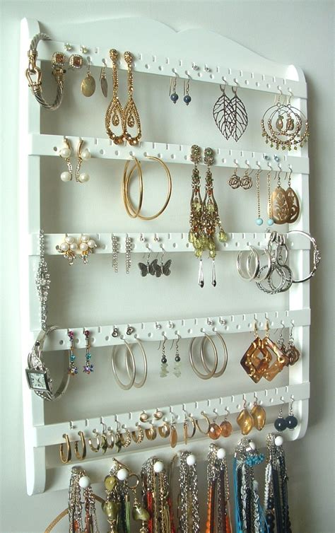 Earring Holder Necklace Organizer Cabinet Grade Semi Gloss