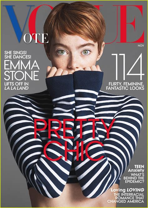 emma stone vogue cover emma stone shows off pixie cut for vogue november 2016