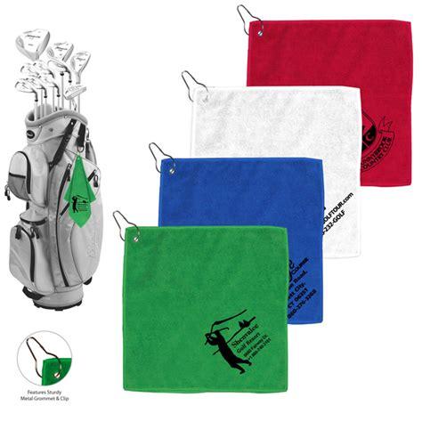 microfiber golf towel metal grommet clip custom 4allpromos