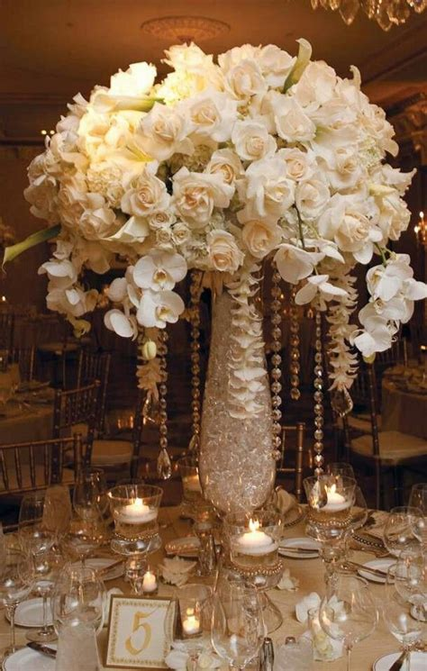 gold and white centerpieces white and gold centerpieces wedding