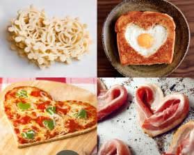 Lace pancakes heart shaped egg on toast heart shaped pizza bacon
