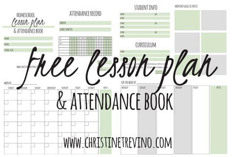 homeschool lesson planner book free lesson plan attendance book christine trevino