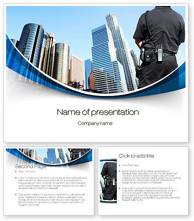 ppt templates free download security city guard security powerpoint template poweredtemplate