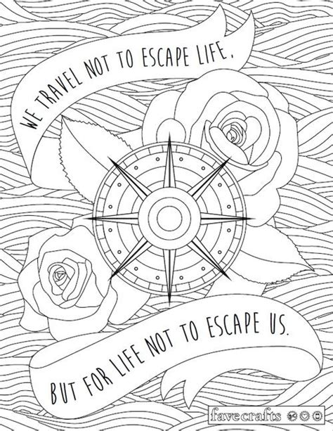 travel escape adult coloring page favecrafts com