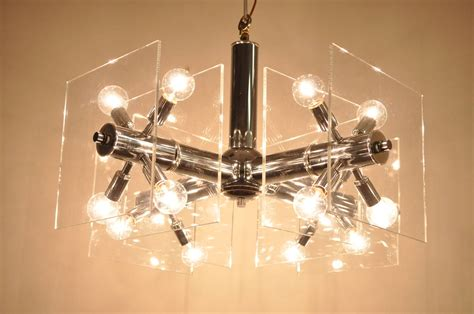 Chrome Orb Chandelier Mid Century Modern Chrome And Lucite Sputnik Orb Chandelier For Sale At 1stdibs