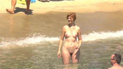 Naked Chubby Blonde Plays Ball On The Beach Free Porn B