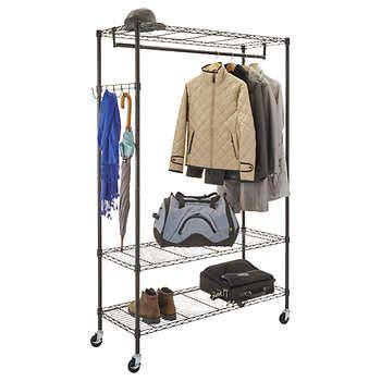 alera wire shelving garment rack 48 quot x 18 quot x 75