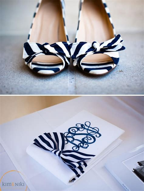 Navy And White Shoes For Wedding by Navy And White Striped Shoes Our Navy White And Pink