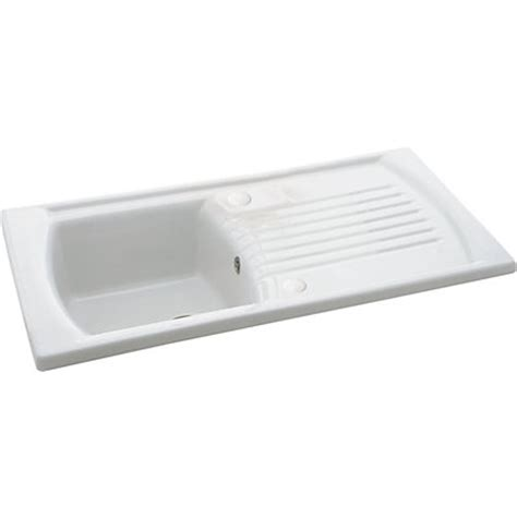 homebase kitchen sinks carron phoenix solaris 100 white ceramic kitchen sink 1 bowl