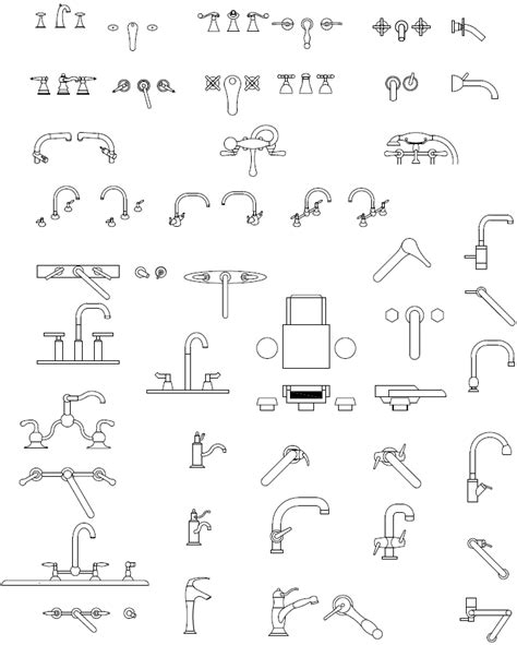 Faucet Cad Block by Autocad Plumbing Block Library Autocad Block Of Shower