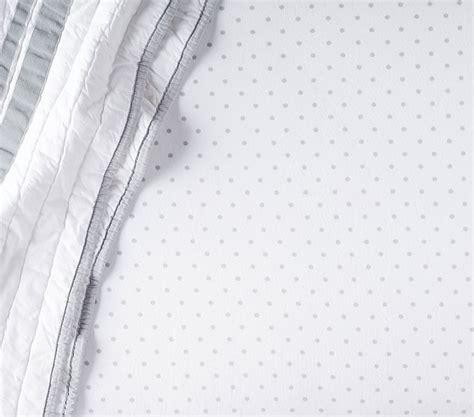 Chamois Crib Sheets by Chamois Pin Dot Crib Fitted Sheet Pottery Barn