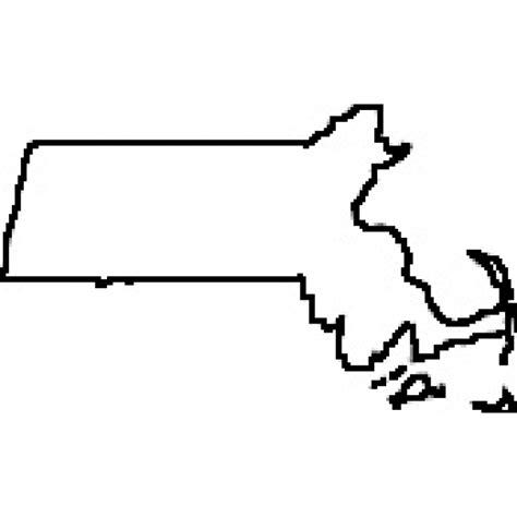 state of massachusetts state of massachusetts outline map rubber st clipart best clipart best