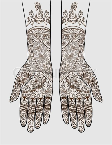 henna tattoo vendors vector illustration of with henna tattoos on them