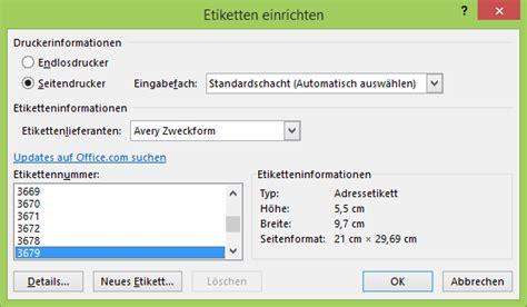 Word Etiketten Drucken Mit Absender by Etiketten Im Seriendruck Netschulungnetschulung