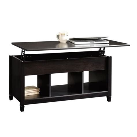 black lift coffee table lift top coffee table in estate black 414856