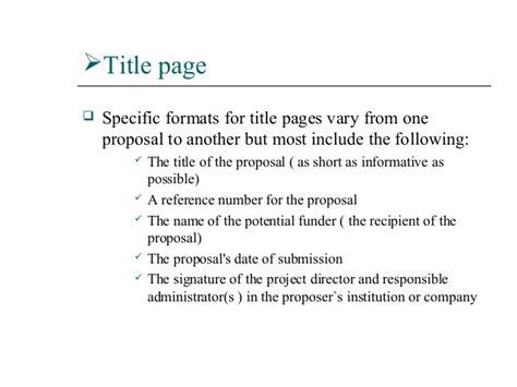 business proposal writing