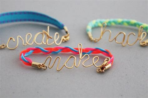 Make, Hack, Create, Love: Wire Word Friendship Bracelets   Brit   Co