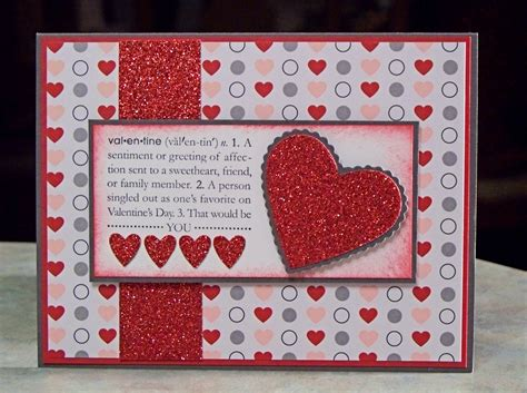 Handmade Valentines - handmade s day card using stin up