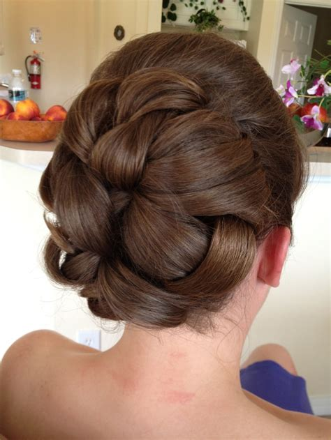 hairstyles with curls and bump wedding hair large barrel style curls in the back with a