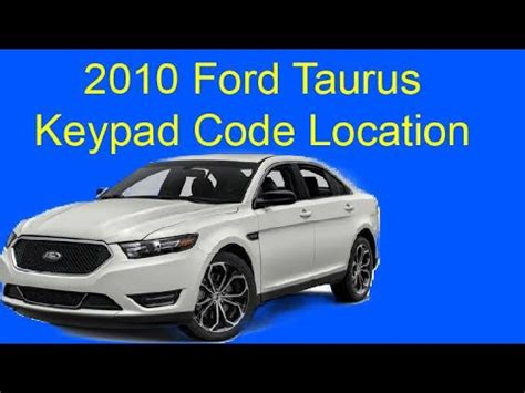 finding  keyless entry code    ford excursion doovi