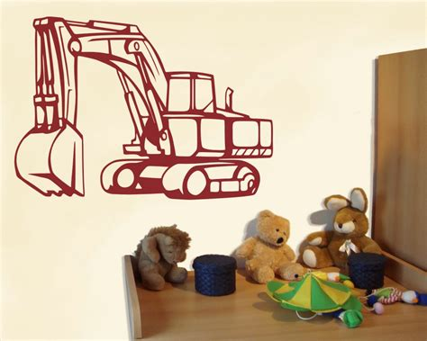 kinderzimmer deko bagger ᐅ wandtattoo gro 223 er bagger als kinderzimmer deko kiddikiste