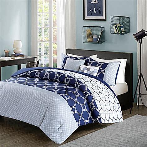 navy twin xl comforter buy intelligent design clara reversible 4 piece twin twin