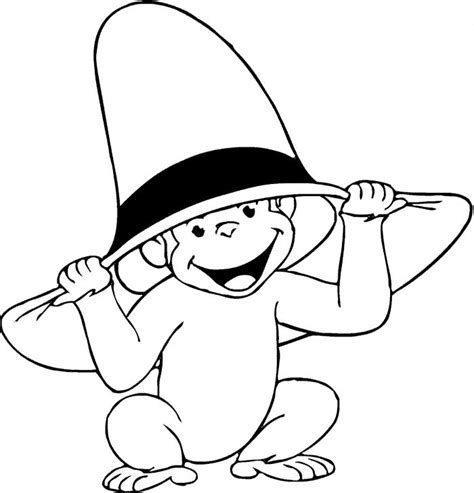 curious george color pages az coloring pages