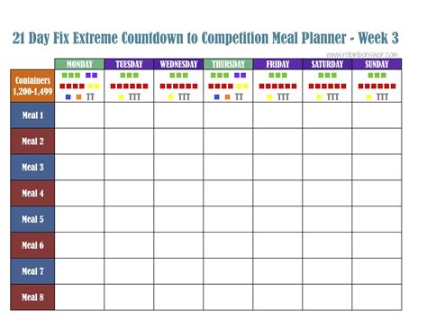 how to create a 21 day fix meal plan weekly meal planner 21 day fix meal plan tools get fit lose weight feel