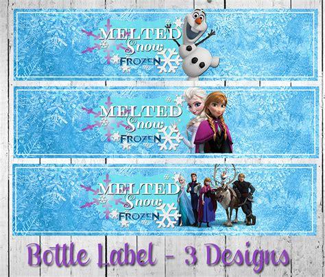 printable frozen drink labels 7 best images of frozen water bottle printables free