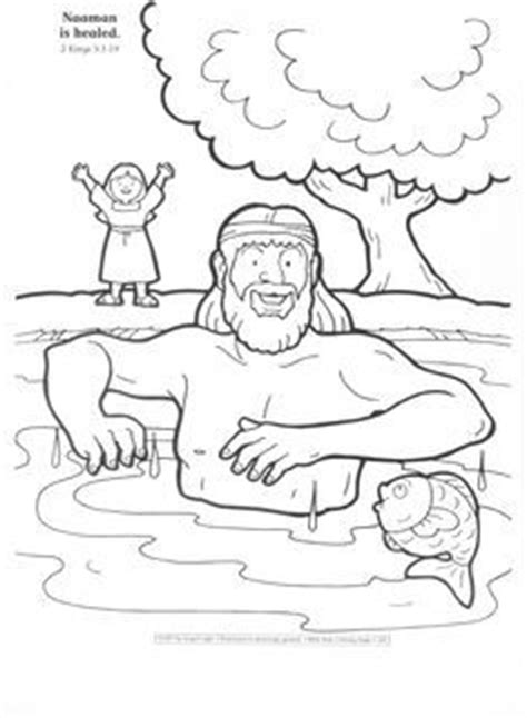 free bible coloring pages naaman library of non denominational bible lessons connections