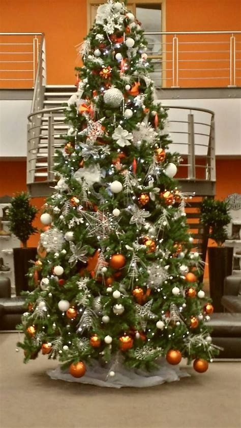 a christmas tree we designed for harley davidson orange