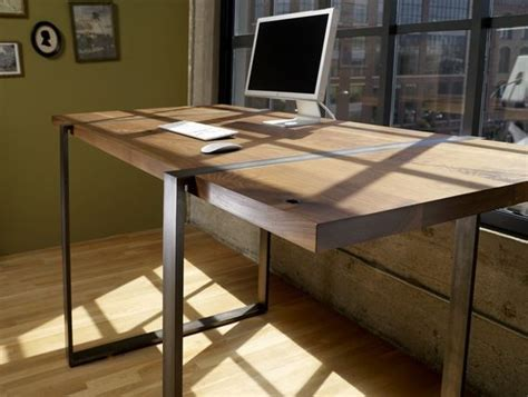 Custom Desk Ideas Custom Made Walnut And Steel Standing Work Desk Furniture Steel Desks And Work Desk