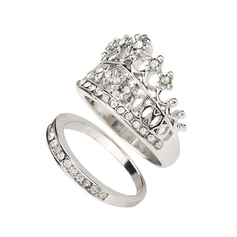 aliexpress buy crown wedding rings for silver