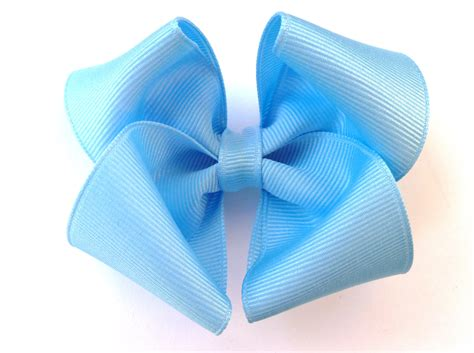 Baby S Trousseau Pale Blue Light Blue Hair Bow Robins Egg Baby Blue Bowssomething
