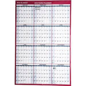 Year At A Glance Calendar 2018 At A Glance 2018 Yearly Planner Pm26 28 Erase Wall