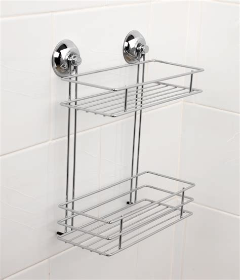 beldray la036230 two tier suction shower basket bathroom