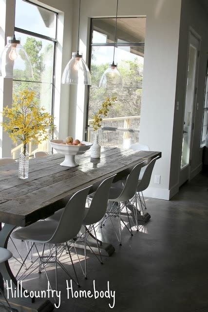 Rustic Modern Dining Room Lighting Rustic Modern Dining Room White Modern Chairs Farmhouse