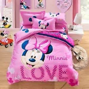 size minnie mouse pink duvet cover bedding set