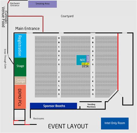 layout of an event events lanfest sacramento fall 2013