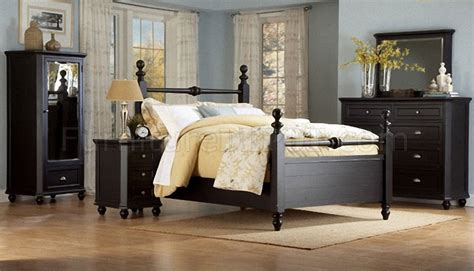 black bedroom furniture what color walls black casual cottage style bedroom w optional casegoods