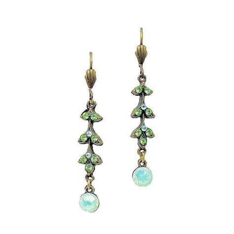 earrings designer crystals and opal gemstone drops