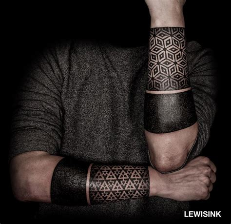 geometric patterns amp black bands best tattoo design ideas