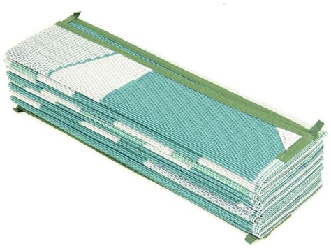 faulkner rv mat summer waves green and blue 8 x 20