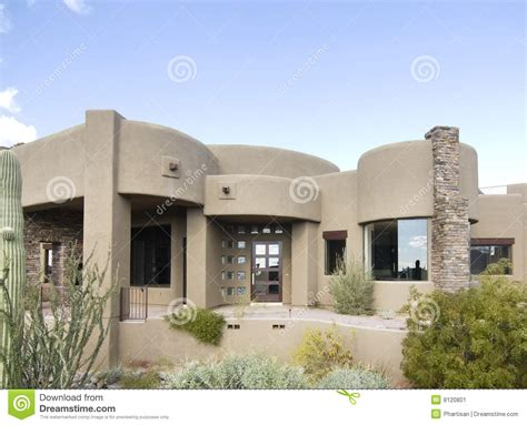 style of home adobe large adobe style new home stock image image 8120801
