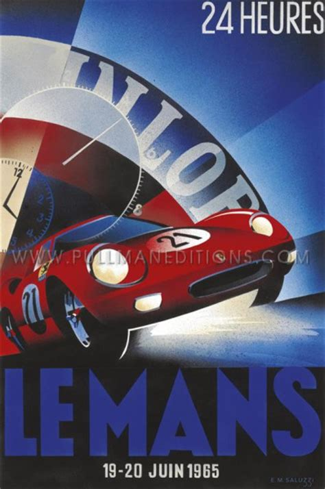 deco racing cars 1965 le mans 24 hours pullman editions